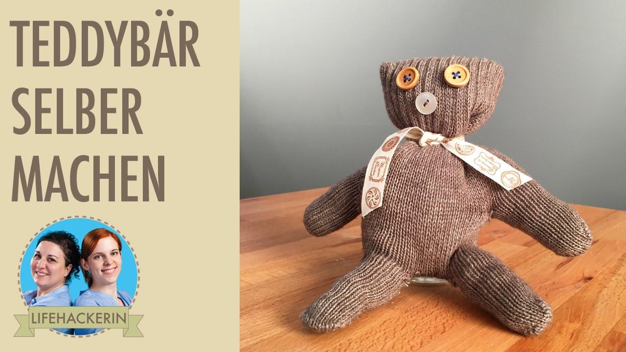 teddybär aus altem handschuh selber machen | altkleider upcycling