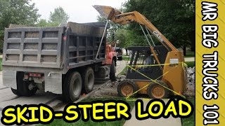 Skid-Steer Loading Dump Truck After Driveway Demolition: MrBigTrucks101