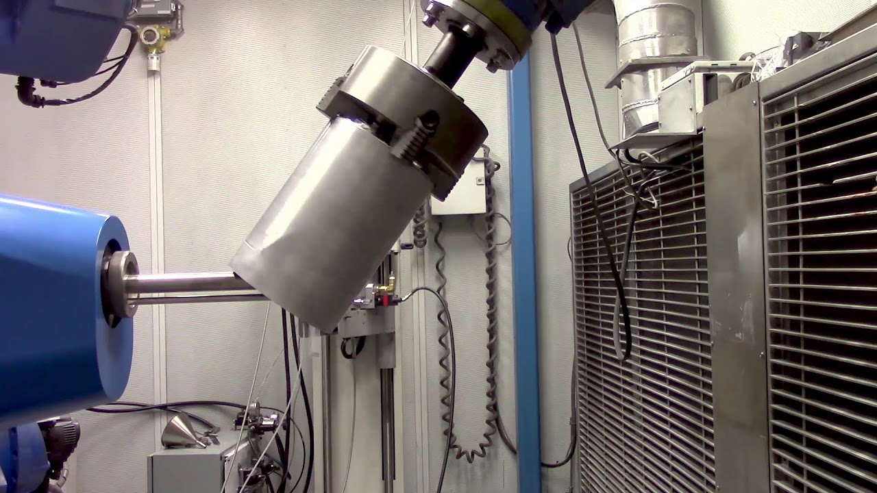 Cold spray of a permanent magnet to the inside surface of a cylinder