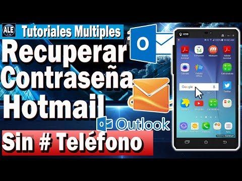 Como Recuperar Contraseña De Hotmail o Outlook – Sin Teléfono Ni Correo Desde Celular
