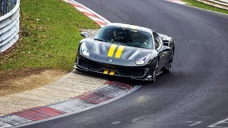 First Lap: Ferrari 488 Pista breaking in on the Nürburgring!