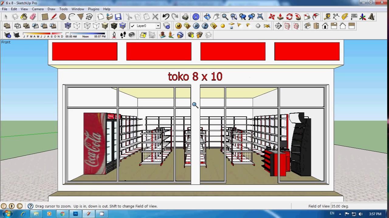Tutorial Sketchup Membuat Toko Minimarket  Bag 3  YouTube