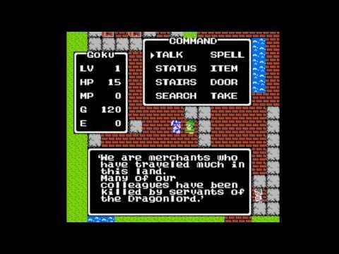 Dragon Warrior NES Introduction, Tantegel, and Brecconary