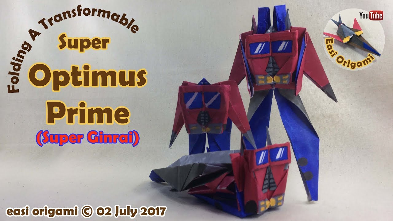 How to make a papercraft origami transformer super ginrai how to make a papercraft origami transformer super ginrai requires 1 straight cut jeuxipadfo Images