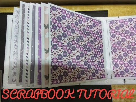 DIY Scrapbook Tutorial | How to make a Scrapbook | The Base, Binding and Pages |