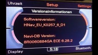 Mise à jour GPS Audi MMI 3G High - 2019 (6.28.2) - Version courte