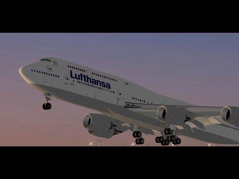 SSG 747-8i Lufthansa Munich to Delhi X-Plane 10