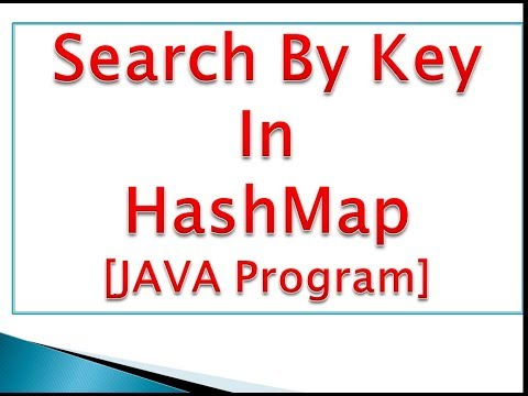 HashMap : Search By Key Using ContainsKey() Method In Java