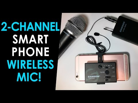 Wireless Microphone for Smartphones! — Samson Go Mic Mobile First Look #CES2017