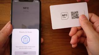 How to Scan NFC (iPhone 7 through iPhone X)