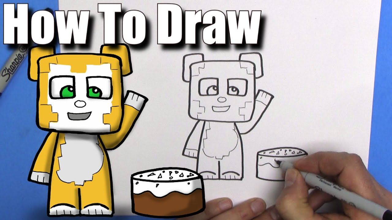 How To Draw Stampy Longhead  Easy Chibi  Step By Step  Kawaii  Youtube