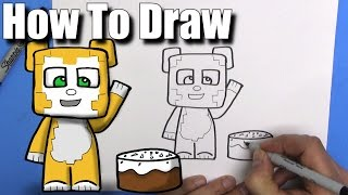 How To Draw Stampy Longhead - EASY Chibi - Step By Step - Kawaii