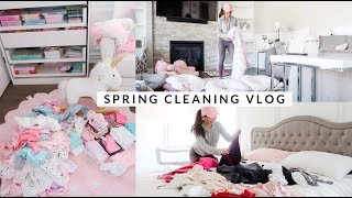 SPRING CLEANING THE ENTIRE HOUSE! LETS DECLUTTER!🌸 -SLMissGlamVLogs