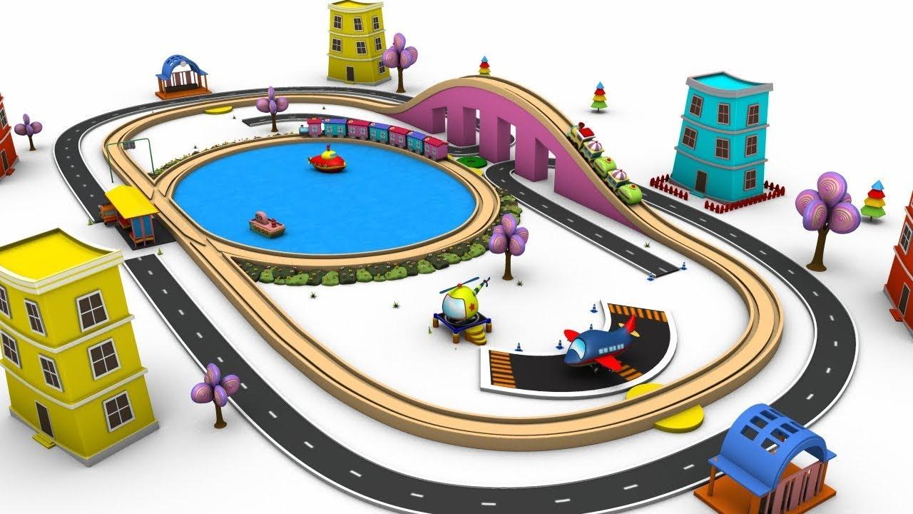 toy factory cartoon chu chu train trains for children