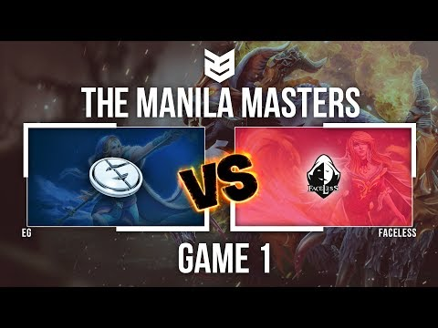 Manila Master | EG vs Faceless - Game 1 - Caster : Dukie
