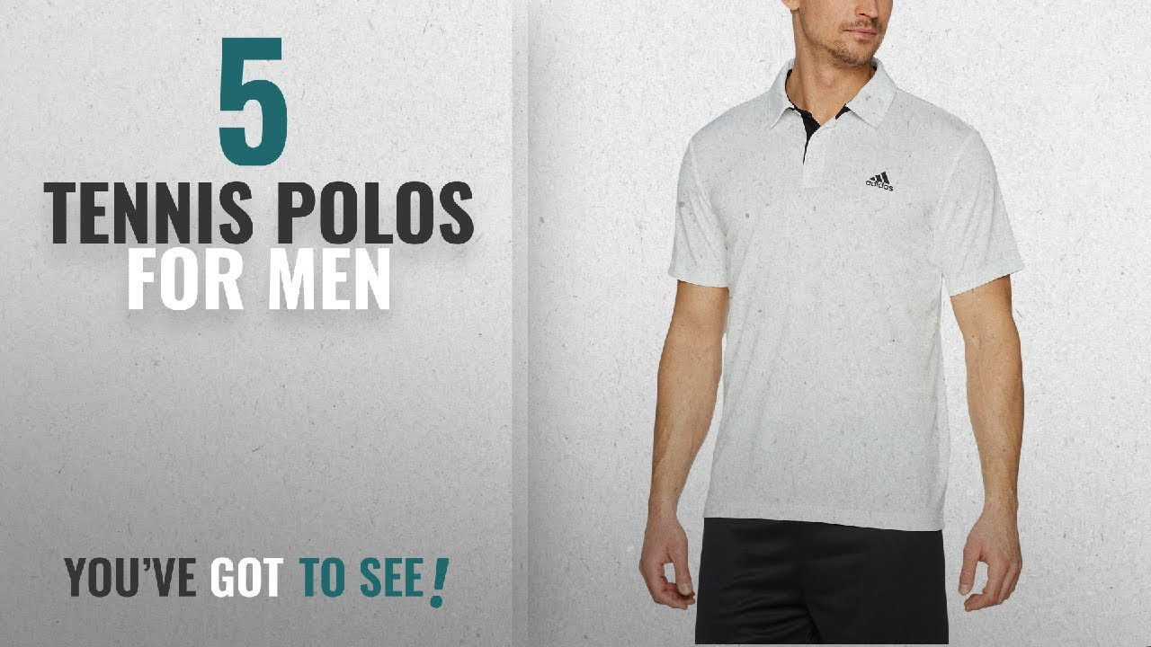 ba0e0078a98bc Top 10 Tennis Polos For Men [2018]: Adidas Men's Approach Polo, White,  Medium