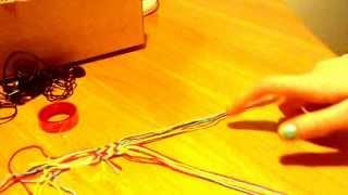 Видео урок. Как плести фенечку две стрелочки.