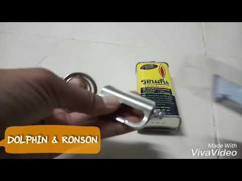 ไม้ขีดน้ำมัน DOLPHIN FLINT MATCH & RONSON