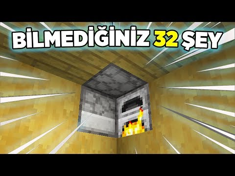Minecraftta Bilmediğiniz 32 Şey