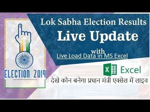 Load Live 2019 Vidhan Sabha Election Results in Excel Sheet - YouTube