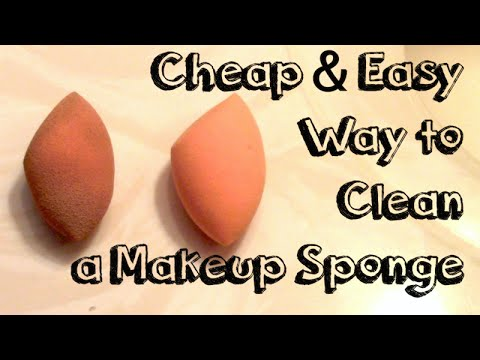 Cheap & Easy Way to Clean a Makeup Sponge!