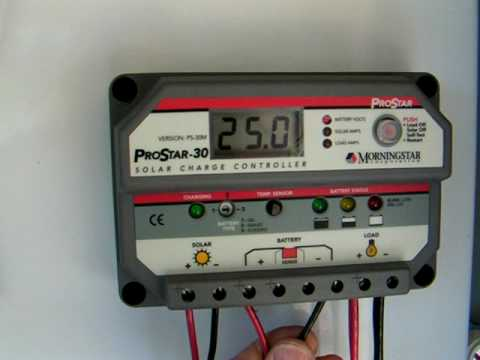 Solar Charge Controller Pro Star 30 Youtube