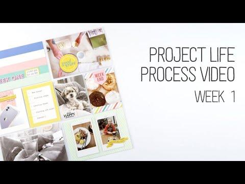 Project Life 2020 Process // Week 1 // Citrus Twist
