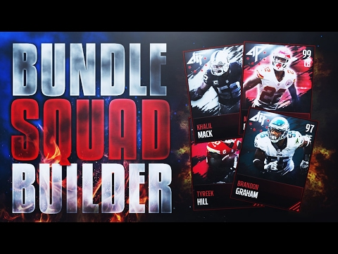 CRAZY ALL-PRO 50x BUNDLE SQUAD BUILDER?! Creating the BEST TEAM with 1 BUNDLE! Madden Mobile 17