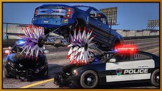 GTA 5 Roleplay - 'MONSTER' Reaper Truck Crushing Cop Cars | RedlineRP #988