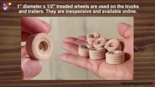 Wood Toy Plans - Peterbilt Truck Stop