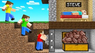 We STOLE STEVE'S NETHERITE In Minecraft!