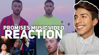 calvin harris sam smith promises official video reactione2 reacts