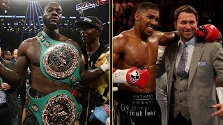 ANTHONY JOSHUA WILL FIGHT DEONTAY WILDER IN AMERICA