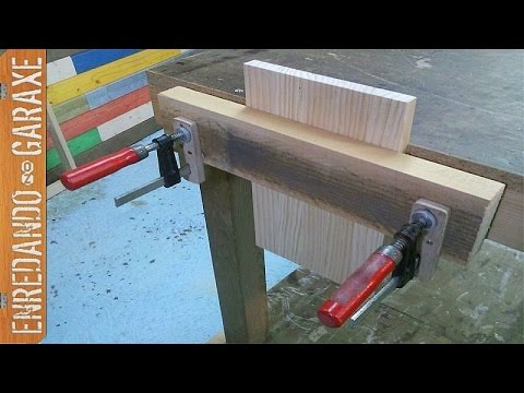 How to make a workbench vice