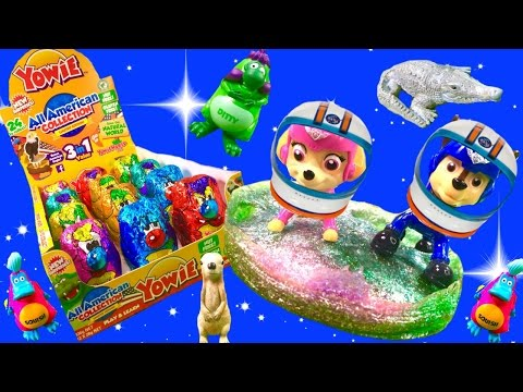 Paw Patrol Travel into Space to Find Yowie™ Surprise Inside Chocolate Toys! Stop Motion!