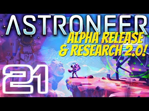 GATHERING RESOURCES TO POWER THE RESEARCH EXPERIMENT | Astroneer Alpha 0.5.0.0 #21