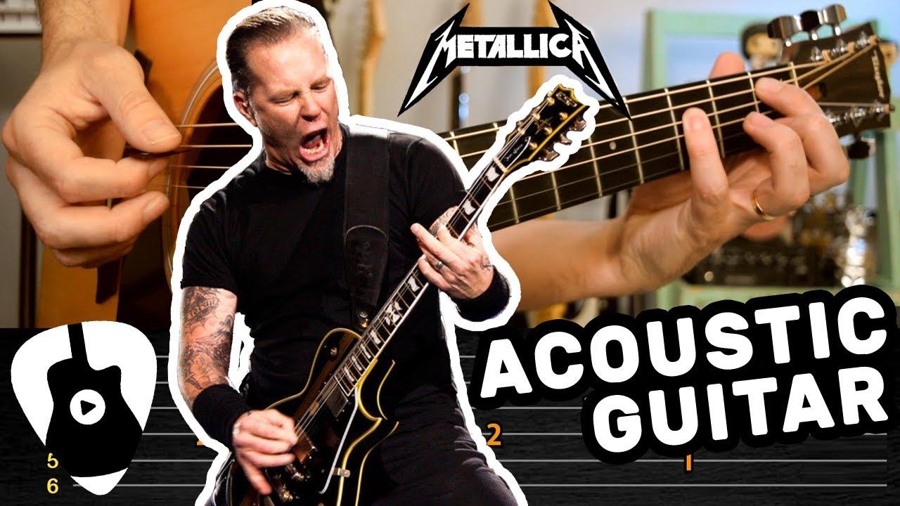 Aprende Las 7 Mejores Canciones de METALLICA en Guitarra Acustica   Tablaturas TCDG