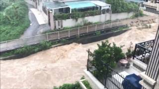 Rainstorm Creates Rivers in Hong Kong