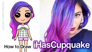 How to Draw iHasCupquake Easy Chibi | Famous Youtuber