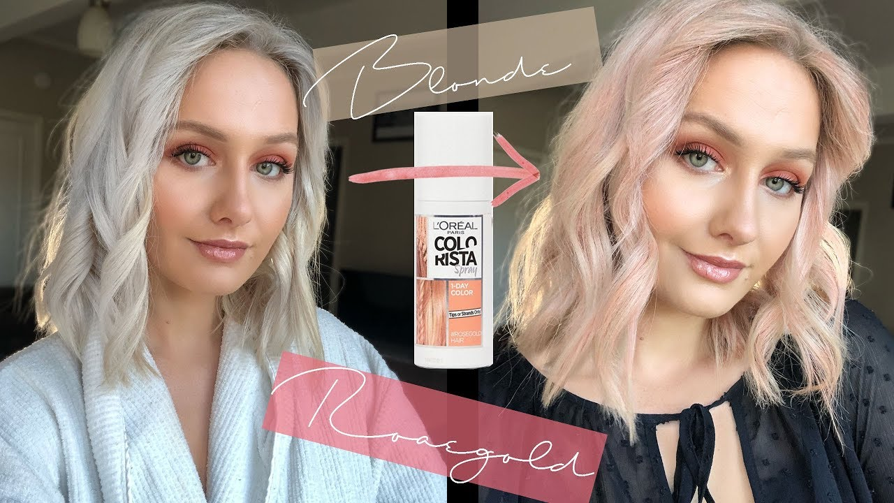 Blonde To Rose Gold In 5 Minutes Colorista Spray Youtube