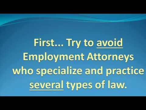 How to Find an Employment Lawyer or Attorney