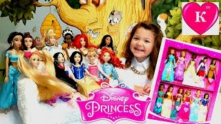 Куклы Барби Огромный игровой набор Принцессы Диснея 11 КУКОЛ Disney Princess Doll Collection 11