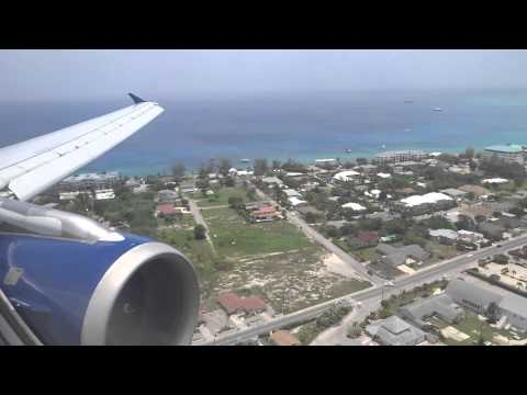 Delta Airbus A320 - Atlanta to Grand Cayman land w/ Spectacular Ocean Views