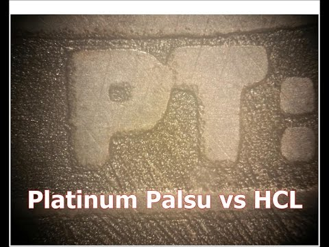 HCl terhadap Tembaga dan Grup Besi (platinum palsu)