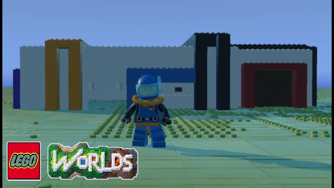 How to Build a Modern House in Lego Worlds YouTube