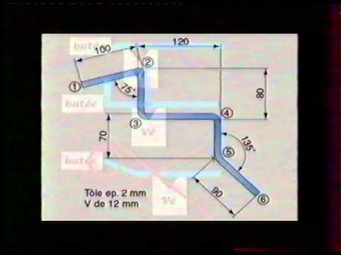 Chaudronnerie s rie pliage calcul d velopp d 39 une t le for Calcul chauffage d une piece