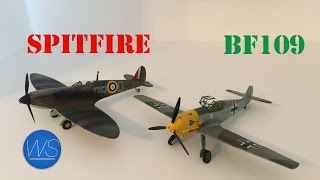 1/72 Airfix Spitfire And Bf-109 Scale Model Build