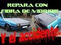 REPARAR CUALQUIER PLASTICO CON FIBRA DE VIDRIO!! y el golpe con el coche