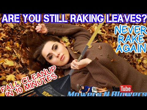 ARE YOU STILL RAKING LEAVES? FALL AUTUMN LEAF LAWN YARD CLEANUP TRACTOR RIDING MOWER BAGGER SYSTEM