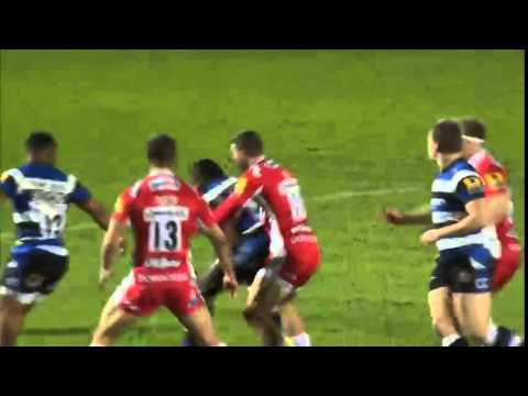 Matt Banahan charge knocks out Kelly Brown - YouTube